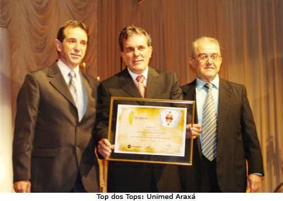 Rede Integração premia 39 empresas em Araxá no Top of Mind 2008