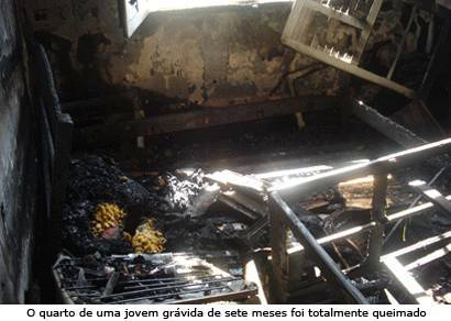 Incêndio causa destruição em casa na Vila Guimarães