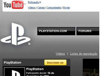 YouTube dedica um canal ao PlayStation