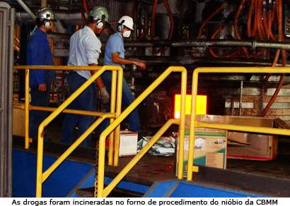 Polícia Civil incinera 90 quilos de drogas na CBMM