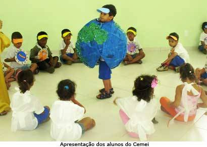 Cemei Doralice Afonso realiza projeto ambiental através da arte