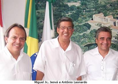 Jeová e Miguel Jr. se reúnem com o prefeito Antônio Leonardo