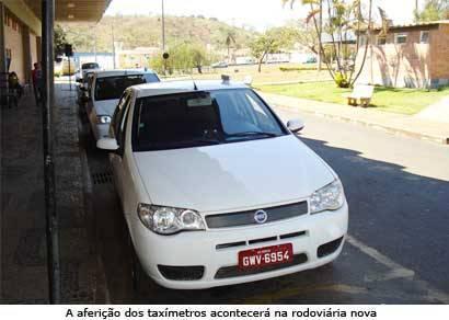 Ipem realiza aferição periódica em taxímetros de Araxá