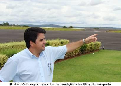 Mau tempo faz aeroporto de Araxá operar por instrumentos