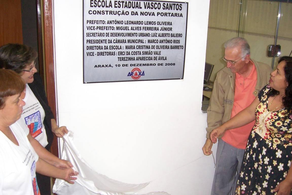 Inaugurada a nova portaria da Escola Estadual Vasco Santos
