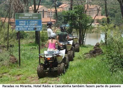 Quadriciclo é o novo atrativo turístico de Araxá