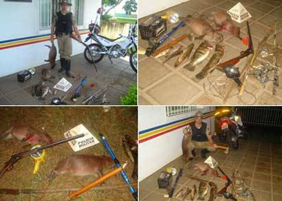 PM de Meio Ambiente de Araxá prende caçadores