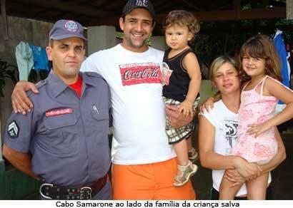 Família agradece bombeiro que ajudou no salvamento de criança pelo telefone