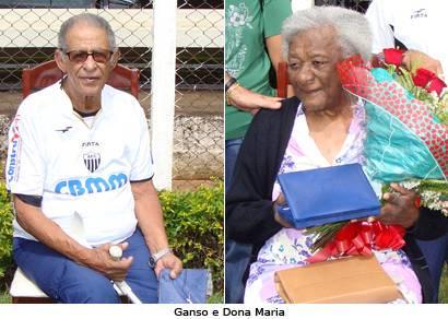 Ganso e Dona Maria são homenageados no Fausto Alvim