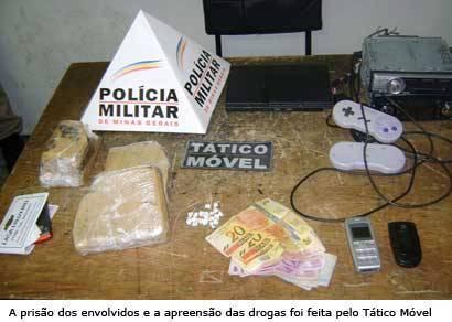 PM prende quatro homens suspeitos de tráfico no Santo Antônio