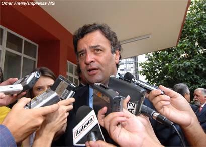 Aécio Neves debate expansão da CBMM com a direção do Grupo Itaú/Unibanco