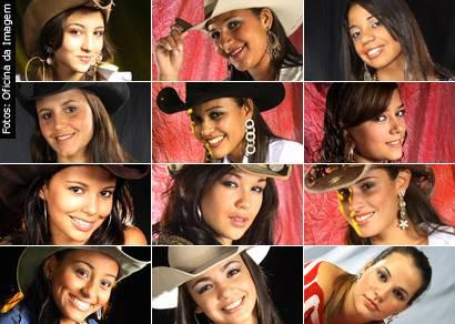 Conheça as 12 finalistas do concurso Rainha da Expoaraxá 2009