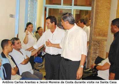 Deputado Antônio Carlos Arantes visita entidades de saúde em Araxá