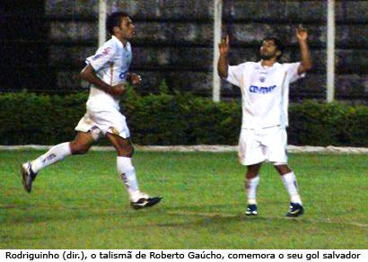 Rodriguinho salva o Ganso da derrota