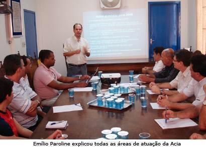 Diretoria da Acia se reúne com vereadores e apresenta ações e projetos