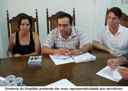 Sinplalto pede apoio da Câmara para iniciar negociação com a prefeitura