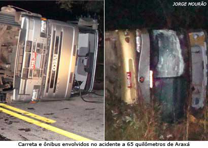 Acidente deixa três mortos e mais de 20 feridos na BR-262