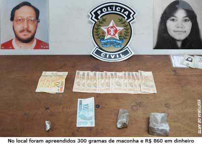 Casal é preso em flagrante por suspeita de tráfico em chácara próxima a Araxá