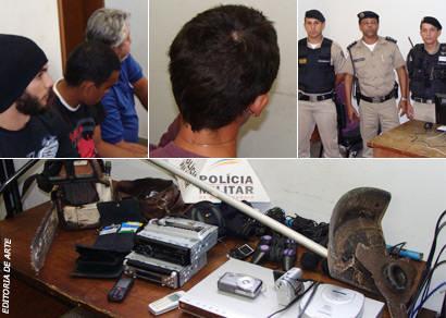Três homens e um menor são detidos e acusados de furtar várias residências