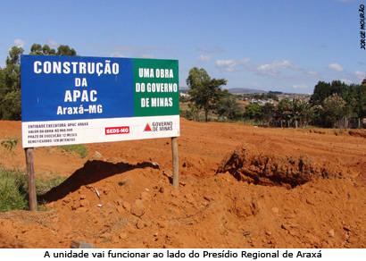Construção da unidade da Apac em Araxá é iniciada