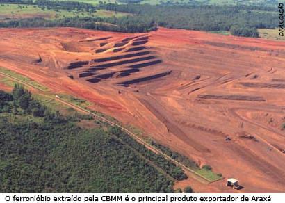 Balança comercial de exportação de Araxá despenca 55,65%