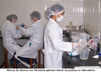 Alunos da saúde contra a Influenza A no Senac Araxá