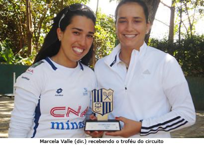 Marcela Valle fica com o vice pela categoria 18 anos no Circuito Copa Tênis