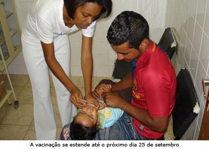Araxá dá inicio à segunda etapa da vacinação contra a poliomielite