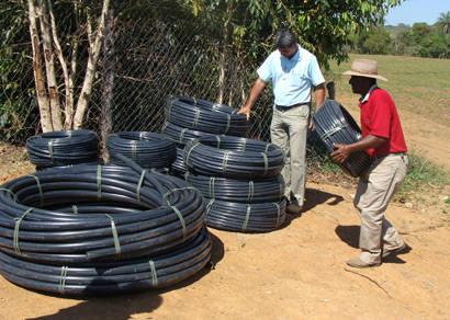 Cinturão Verde recebe sistema de irrigação
