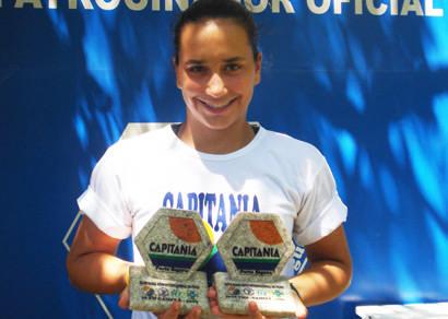 Com brilhante atuação no Bahia Open, Marcela Valle leva dois troféus