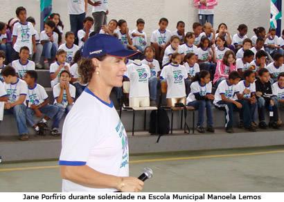 Manoela Lemos inaugura projeto de Jane Porfírio nas escolas municipais