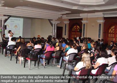 Secretaria promove capacitação de agentes do aleitamento materno