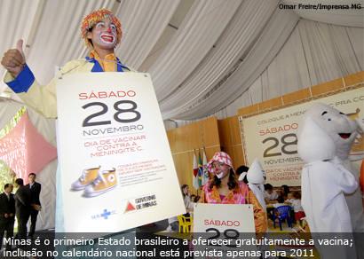 Campanha Contra a Meningite C vacina 2,6 mil crianças em Araxá