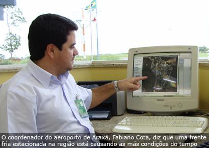 Mau tempo fecha aeroporto de Araxá