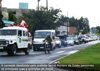 Prefeitura faz carreata com frota do município