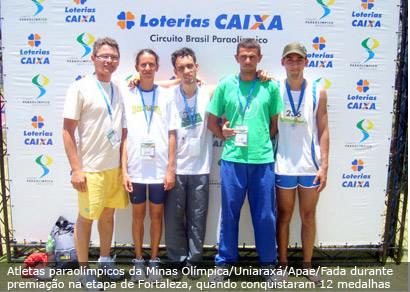 Paraolímpicos do Uniaraxá conquistam o 12° lugar em circuito nacional