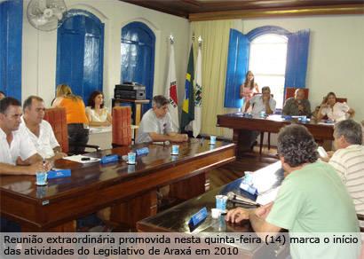 Câmara inicia 2010 com aprovação de convênio da prefeitura com o Galo