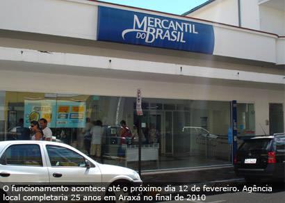 Banco Mercantil do Brasil encerra atividades em Araxá em fevereiro