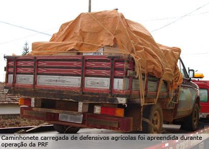 PRF recupera carga de defensivos agrícolas que pode chegar a R$ 600 mil