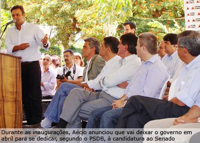 Aécio Neves inaugura obras de infraestrutura em Araxá