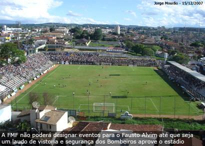 Fausto Alvim é reprovado pelos Bombeiros e não pode sediar jogos do Ganso