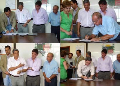 Prefeitura assina convênio com Copasa e Sest/Senat
