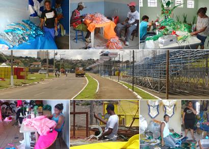 Escolas de Samba se preparam para o desfile