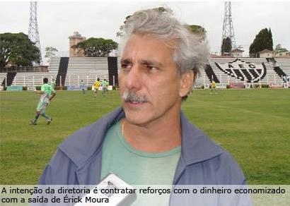 ??rick Moura é demitido pela diretoria e Dedé pode assumir até o fim do campeonato