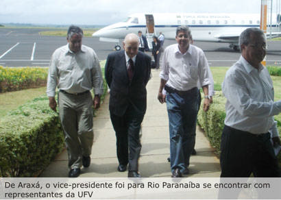 Vice-presidente da República passa por Araxá
