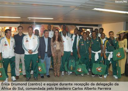 ??rica Drumond e Dona Beja recebem Seleção da África do Sul em BH