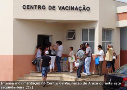 Grande procura no primeiro dia de vacinação contra a gripe A para a comunidade