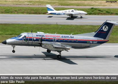 Air Minas opera em Araxá a partir de maio