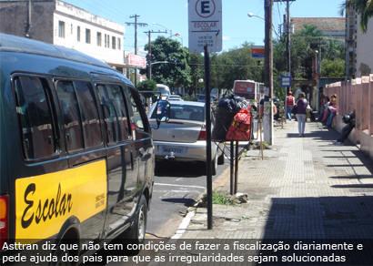 Imprudência de motoristas de veículos escolares gera reclamações