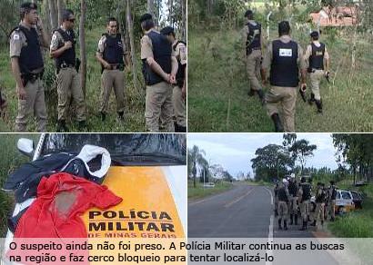 Bandido faz dois assaltos e na fuga rouba revólveres da Polícia Militar